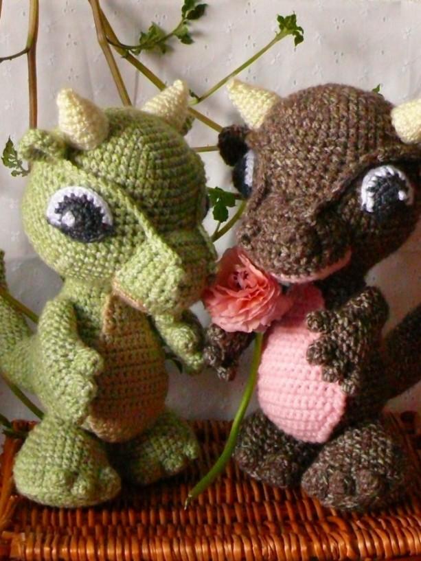 Amigurumi Baby Dragon Crochet Pattern Video Tutorial | 817x613