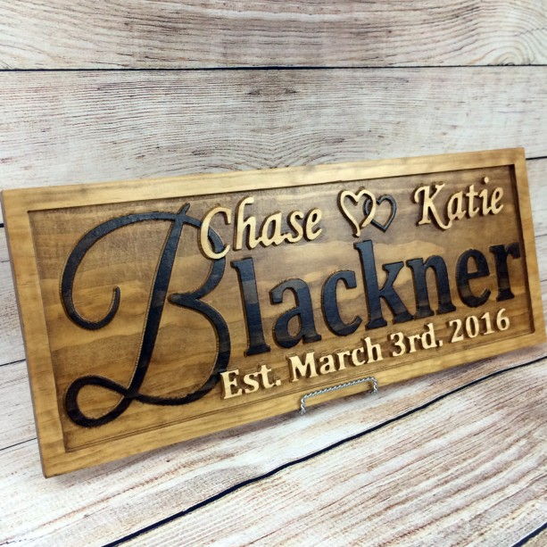 Personalized Family Name Signs Wedding Gift Aftcra