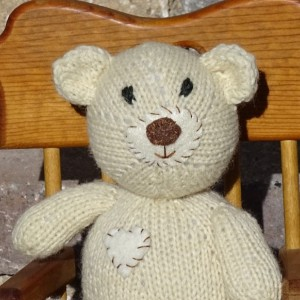 Hand Knitted Bear, Wool Toy, Stuffed Bear, Light Brown Bear, Hand Knitted Teddy Bear, Plush Toy, Kids Toy, Teddy Bear, Ready to Ship