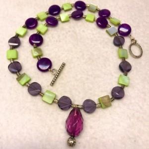 "Fresh Off the Vine handmade beaded necklace 18"" long"