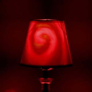 Hand-Painted Red Spiral Mood-Light Bulb