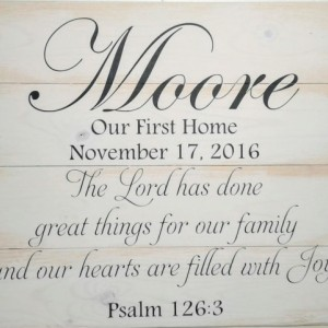Personalized Gift - Personalized Wood Sign -  Christian Wood Wall Art - Rustic Wood Signs - Bible Verse Wall Art - Woodsign - Christmas Gift