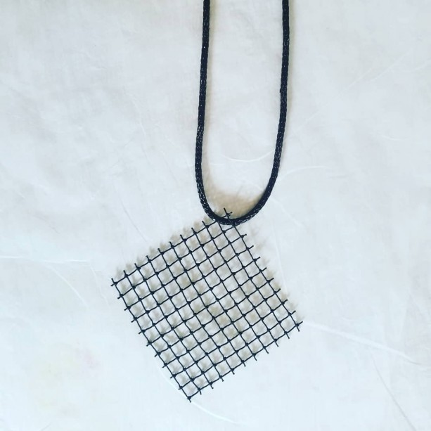 Black Net Diamond Necklace