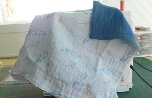 "Baby gift...baby blanket- toddler blanket- tag along blanket-18""×18"""