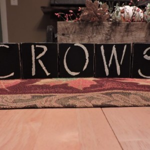 CROWS Black Wood Display Blocks