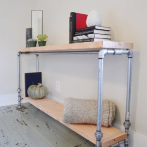 The Thomas - Wooden Pipe Console Table