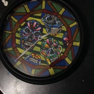 Sugar Skull Clock