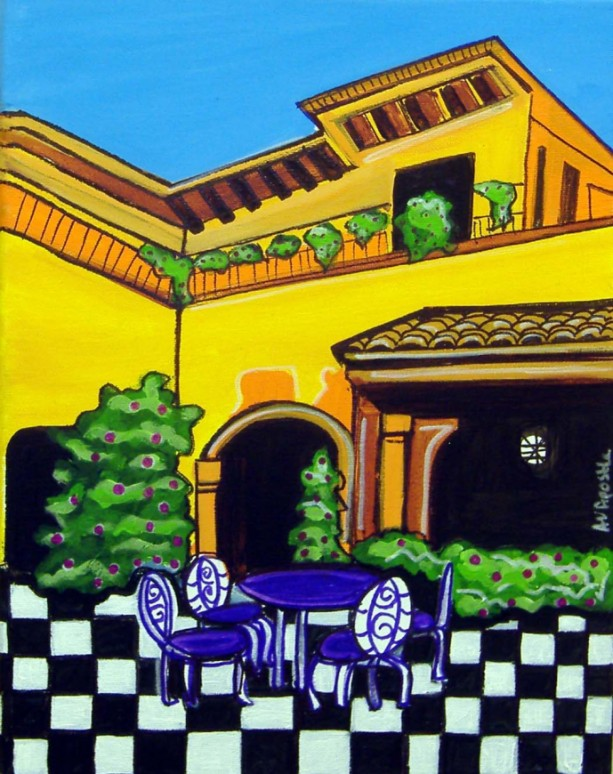 Mexican Folk Art - VILLA #1 - PRINT Signed By Artist A.V.Apostle