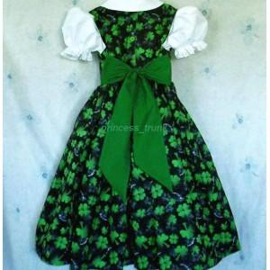 NEW Handmade St. Patrick's Shamrock Green Dress Deluxe Custom Sz 12M-14Yrs