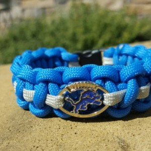 Detroit Lions Paracord Bracelet NFL Officially Licensed Charm