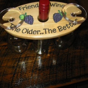 Wine Caddy - Friends and Wine..the older the better