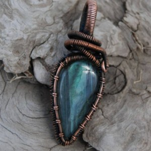 Small Labradorite pendant - Teardrop Shape Labradorite, Unique Design