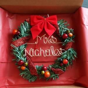 Teachers gift / Oraments / wreath / Christmas wreath ornament/ Personalized ornament/  christmas gift / Personalized wreath