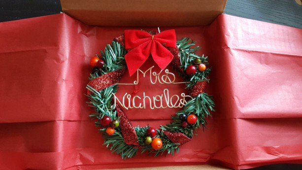 Teachers gift / Oraments / wreath / Christmas wreath ornament/ Pe ...