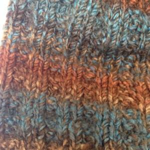 Knit Hat - Basketweave in brown, red, blue