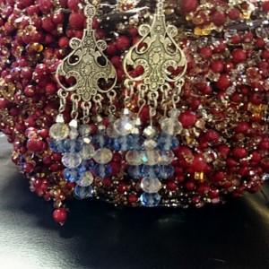 Swarovski Crystal Earrings, Snowflake Earrings, Crystal Snowflake Earrings