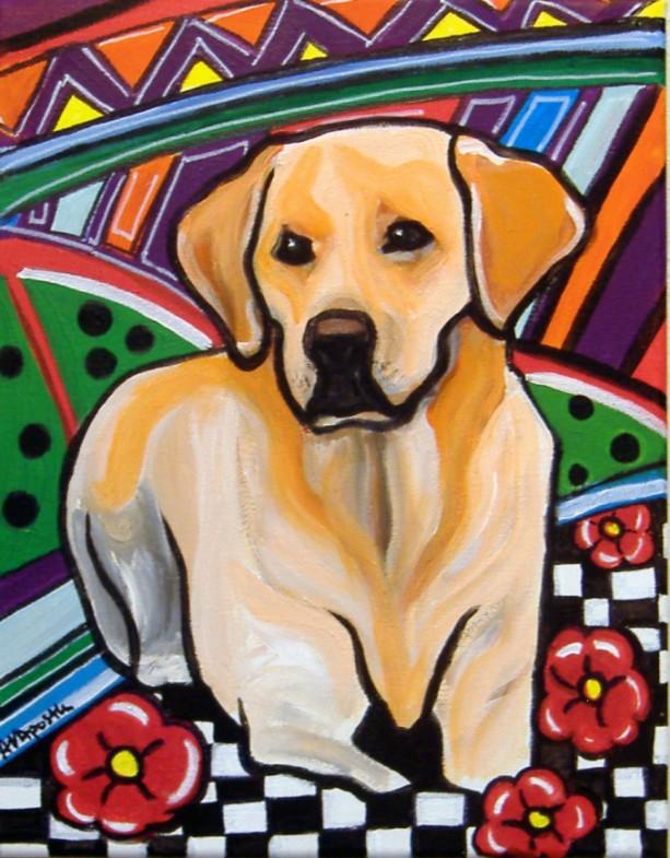 DOG Print- LABRADOR - Signed by Artist A.V.Apostle