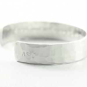 Custom bracelet, sterling silver personalized bracelet, silver engraved bracelet
