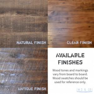 """Coffee Table - 36""""  Reclaimed Wood & Metal Legs"""