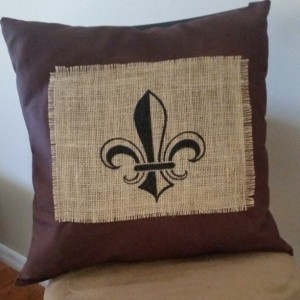 Fleur De Lis Decorative Pillow