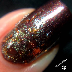 """Nail Polish - """"Fool's Gold"""" - Holographic Copper Brown Glitter - Hand Blended - 0.5 oz Full Sized Bottle"""