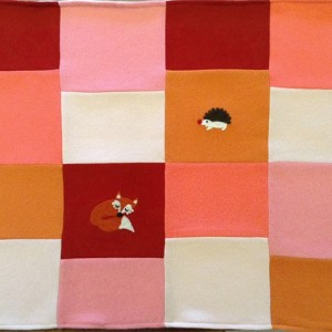 Fox & Hedgehog Pure Cashmere Baby Blanket - heirloom baby gift - patchwork quilt