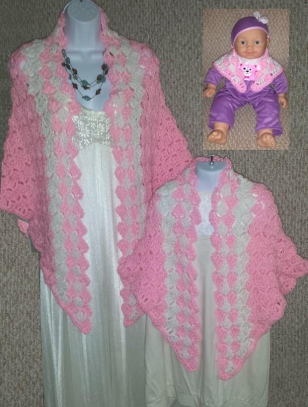 Cuddle Set Shawls: Princess Pink
