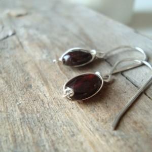 Tiny Amethyst Wrap Earrings