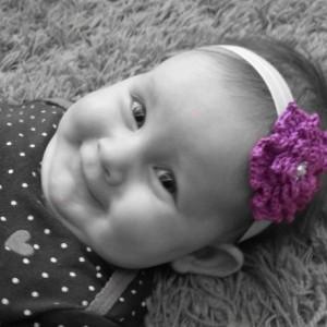 Flower Infant Toe Blooms, Barefoot Sandals, Crochet Flower Elastic Headband Set