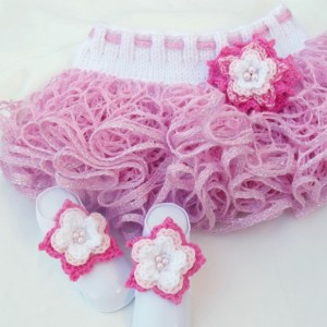 Flower Infant Toe Blooms, Barefoot Sandals, Crochet Flower Elastic Headband Set