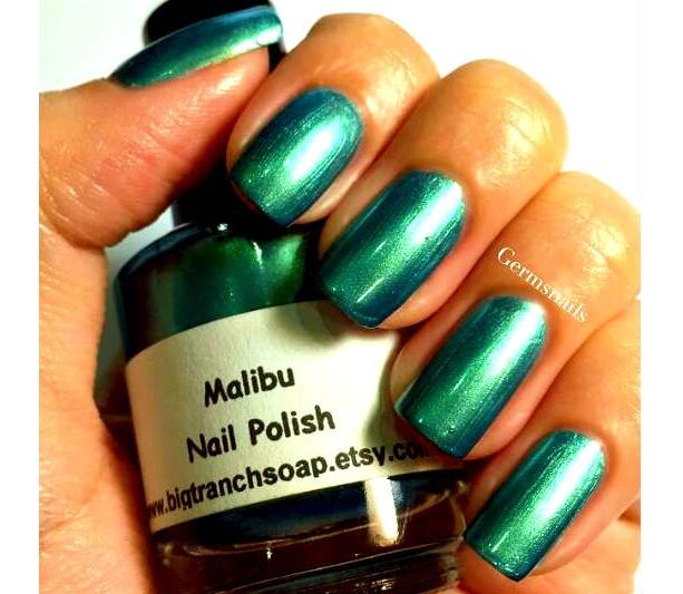 "Multichrome Nail Polish - Color Shifting - ""Malibu"" - Hand Blended - 0.5 oz Full Sized Bottle"