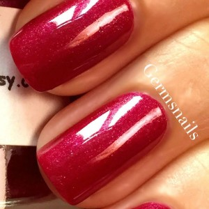 "Red Nail Polish - Holographic - Hand Blended - ""SANGRIA"" - Red Nail Polish - 0.5 oz Full Sized Bottle"