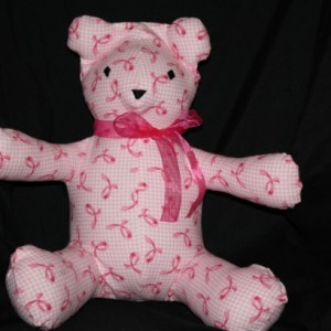 Gingham Pink Ribbon (flannel)