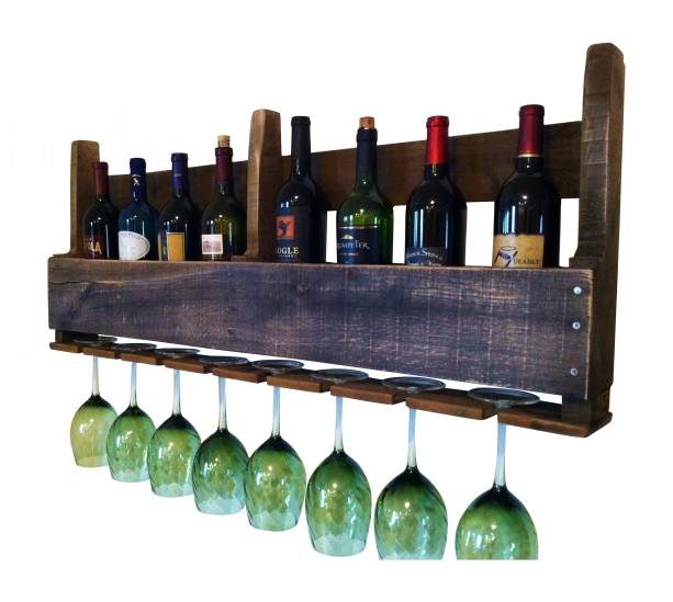 The Great Lakes Wine Rack Dark Wood Design