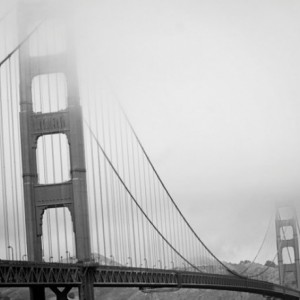 Golden Gate Bridge - 8x10 photograph - Iconic - fine art print - vintage photography - Black and White photograph - San Francisco