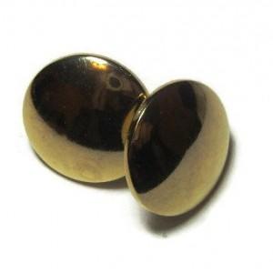 Gold Button Stud Earrings