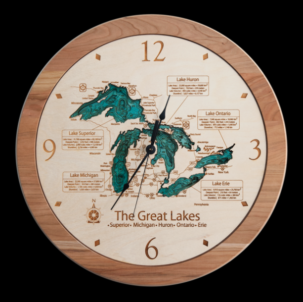 3D Lake Art Clock