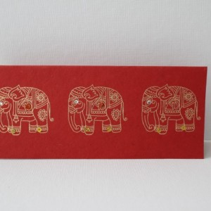Set of 5 Gold Embossed Elephant Cards - Any occasion