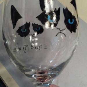 Grumpy Cat Wine Goblet