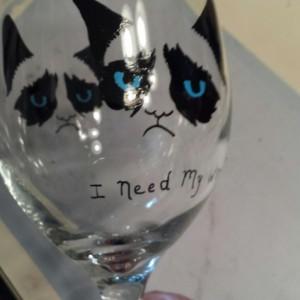 Popular Grumpy Cat Wine Goblet