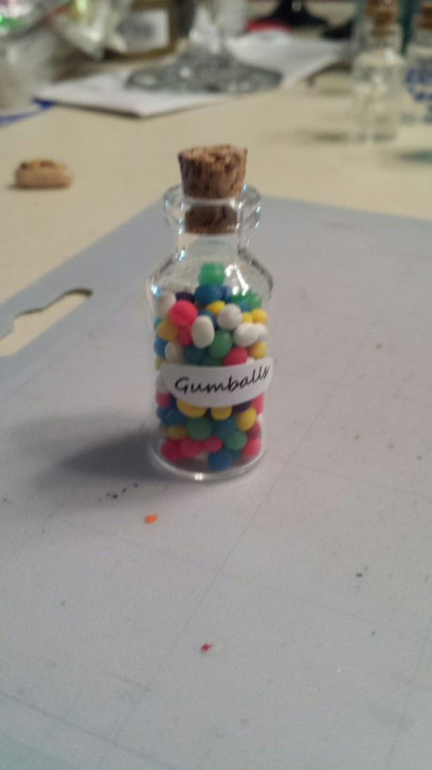 Gumball Bottle Pendant Necklaces
