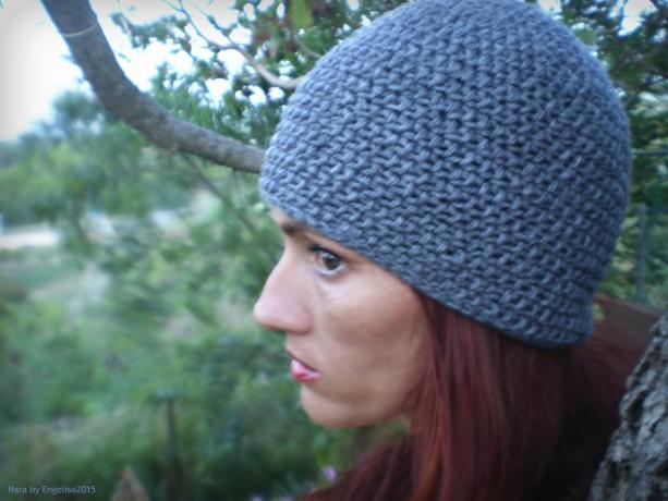 Unisex Half Double Crochet Beanie Gray, Beanie Gray, Handmade Beanie Small