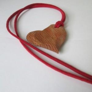 Cherry Heart Necklace, Handmade