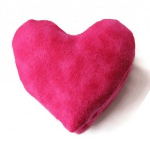 Heart Shaped Bean Bags (Set of 5) Hot Pink Flannel Birthday Party Favors Valentine's Day (Includes US Shipping)