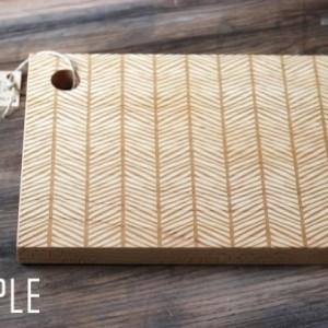 Herringbone Cutting Board - Wood Engraved Modern Pattern 13
