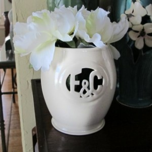 Small Monogram Vase with Ampersand