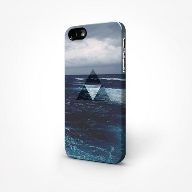 Ocean - Triangle - Symbolic/Geometric Minimalist 3D Case iPhone 5/5S