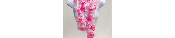 Hand Knit Fluffy Scarf