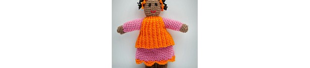 Hand Crocheted Vintage Style Country Friends Doll