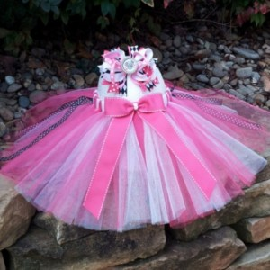 Pink Minnie Mouse Tutu and Hair Bow